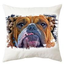 Angol Bulldog mintás párna - paint