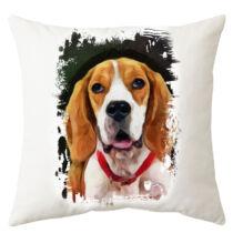 Beagle mintás párna - paint