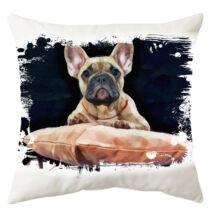 Francia Bulldog mintás párna - paint lie