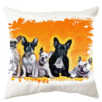 Francia Bulldog mintás párna - paint team