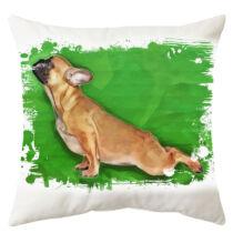 Francia Bulldog mintás párna - paint yoga