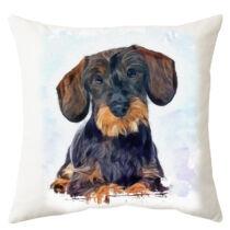 Szálkásszőrű Tacskó mintás párna - paint puppy