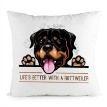 Rottweiler mintás párna 2