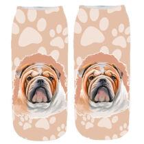 Angol Bulldog mancsos zokni - paint