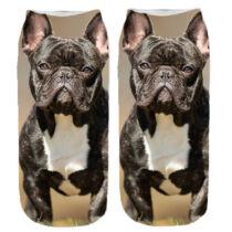 Francia Bulldogos zokni - fekete