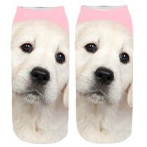Labrador mintás zokni - rózsaszín