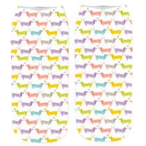 Tacskó mintás zokni - színes