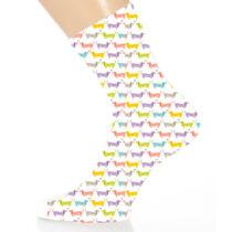 Tacskó hosszú szárú zokni - színes
