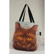 3D Macskás táska - barna
