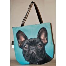 3D Francia Bulldog mintás táska - fekete 4