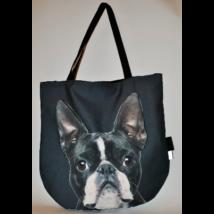 3D Boston Terrier mintás táska