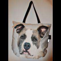 3D Amerikai Pitbull Terrier mintás táska