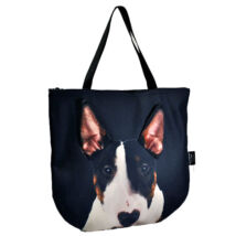 3D Bullterrier mintás táska - tricolor