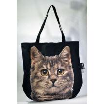 3D Macskás táska - cirmos 3