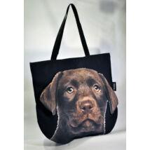 3D Labrador mintás táska - csoki puppy