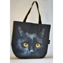3D Macskás táska - fekete 2