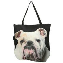 3D Angol Bulldog mintás táska - fehér