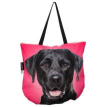 3D Labrador mintás táska - fekete 2