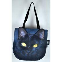 3D Macskás kids táska - fekete