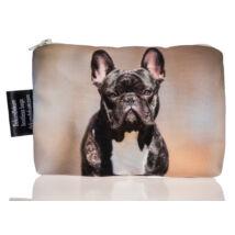 Francia Bulldog mintás kozmetikai táska - fekete 2