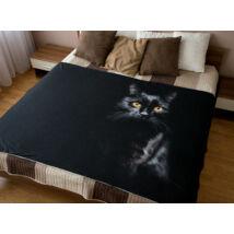 Fekete macskás ágytakaró