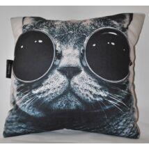 Steampunk macskás párna