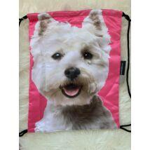 Westie mintás hátizsák - pink