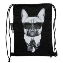Francia Bulldog mintás hátizsák - Man in Black