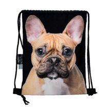 Francia Bulldog mintás hátizsák - bézs 3