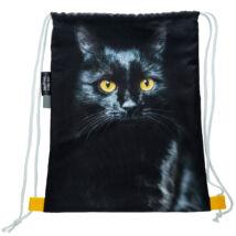 Macskás hátizsák - fekete