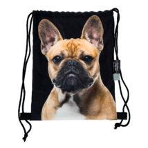 Francia Bulldog mintás hátizsák - bézs 4
