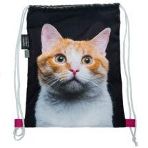 Macskás hátizsák - vörös