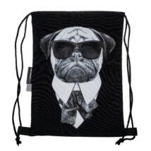 Mopsz mintás hátizsák - Men in Black