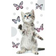 Cicás kéztörlő arctörlő - pillangó