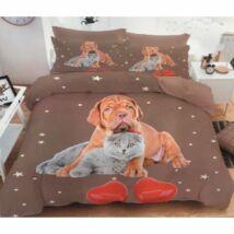Bordeaux dog és cicás ágynemű