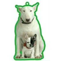 Bullterrier és Francia Bulldog autóillatosító