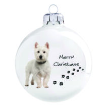 Westie karácsonyfadísz
