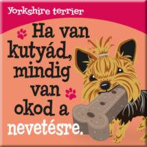 Yorkshire terrier hűtőmágnes - w&w