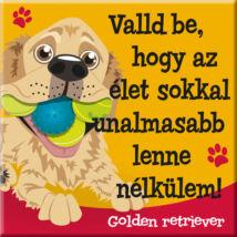 Golden retriever hűtőmágnes - w&w