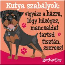 Rottweiler hűtőmágnes - w&w