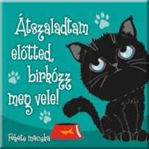 Fekete macska hűtőmágnes - w&w