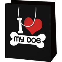 I love my dog ajándék tasak - nagy
