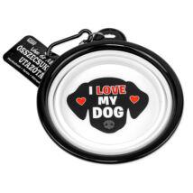 I love my Dog összecsukható utazó kutyatál - w&w