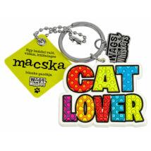 Macskaimádó kulcstartó
