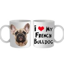 Francia Bulldogos bögre