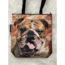 Angol Bulldog mintás táska