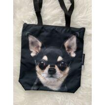 Chihuahua mintás táska - fekete