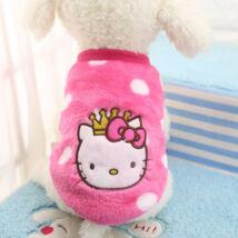 Pink plüss kutyaruha S