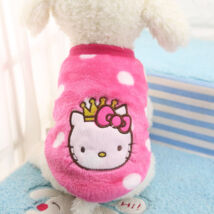 Pink plüss kutyaruha M