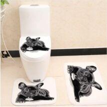 Francia Bulldogos wc szőnyeg szett